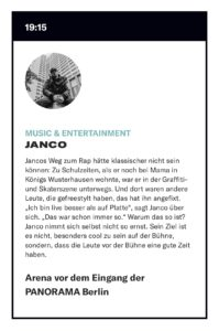 Panorama Berlin Janco Profil