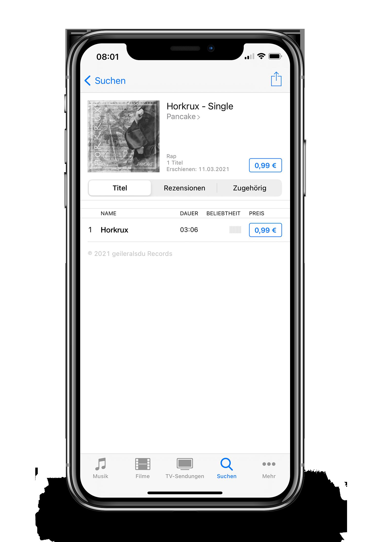 Horkrux iPhone X Mockup